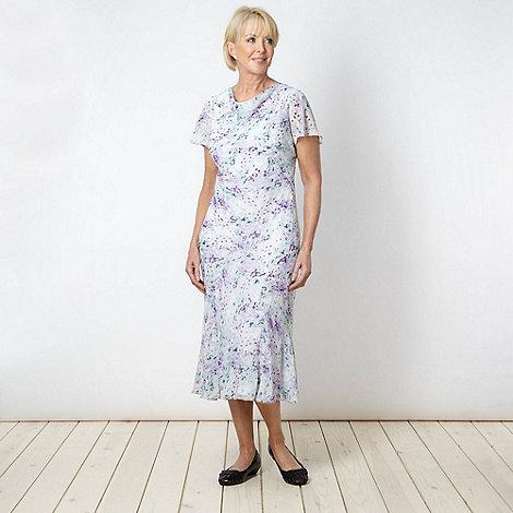 Classics - Lilac abstract blossom dress