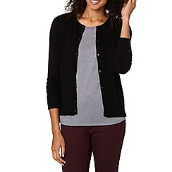 The Collection Petite - Black plain crew neck petite cardigan