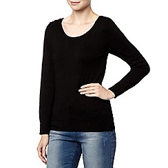 The Collection - Black button shoulder jumper