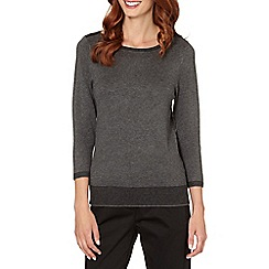 The Collection - Grey striped trim top