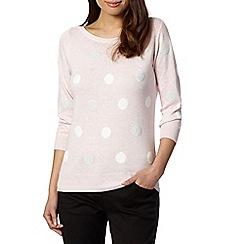 The Collection - Pale pink embellished spot jumper