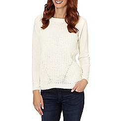The Collection - Cream waffle knit jumper