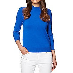 The Collection Petite - Petite bright blue ribbed turtle neck jumper