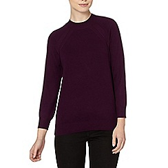 The Collection Petite - Petite purple turtle neck zip jumper