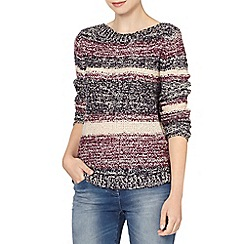 The Collection - Plum striped boucle jumper