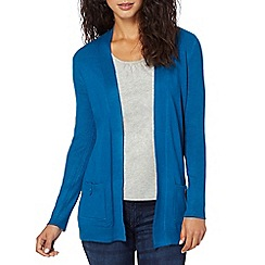 The Collection - Turquoise ribbed edge to edge cardigan