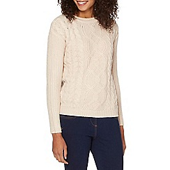 The Collection - Pale pink cable knit jumper