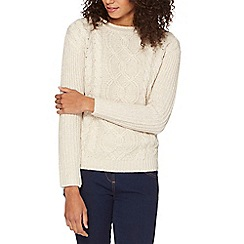 The Collection - Beige cable knit jumper
