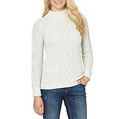 The Collection - Pale green cable turtle neck jumper