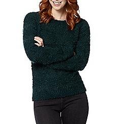 The Collection - Dark green popcorn striped jumper
