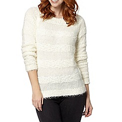 The Collection - Ivory popcorn striped jumper