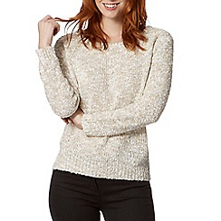 The Collection - Natural popcorn knitted jumper
