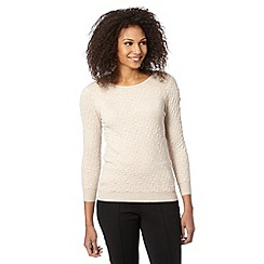The Collection - Natural textured knit top