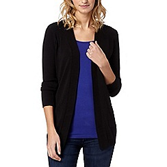 The Collection - Black plain pocket cardigan