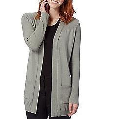 The Collection - Grey plain pocket cardigan