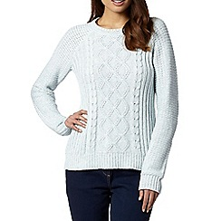 The Collection - Pale blue cable knit jumper