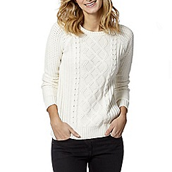 The Collection - Ivory cable knit jumper