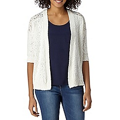 The Collection - Ivory shoulder lace cardigan