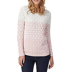 The Collection - Pink ombre cable knit jumper