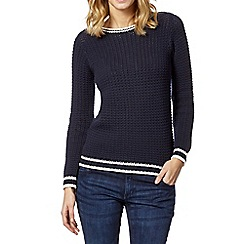 The Collection - Navy chunky knit jumper
