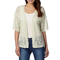 The Collection - Light green slub cardigan