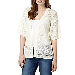The Collection - Ivory textured short sleeve cardigan
