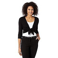 The Collection - Black tie front shrug