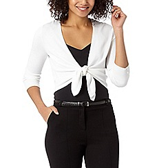 The Collection - White tie front shrug