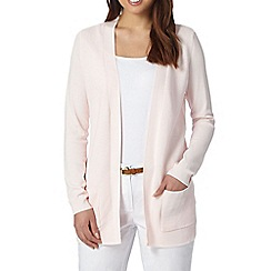 The Collection - Light pink ribbed edge to edge cardigan