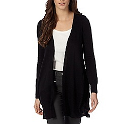 The Collection - Black drape Front Cardigan