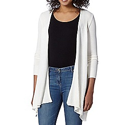 The Collection - Ivory drape Front Cardigan