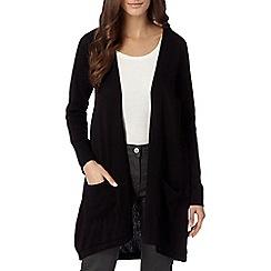 The Collection - Black drape back cardigan