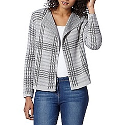 The Collection - Light grey checked cardigan jacket