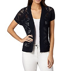 The Collection - Navy pointelle knit cardigan