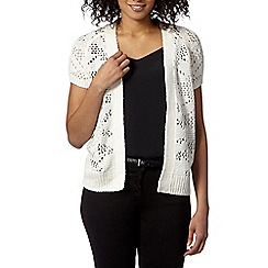 The Collection - Ivory pointelle knit cardigan