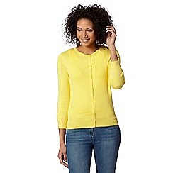 The Collection - Yellow crew neck cardigan