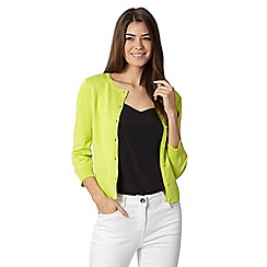 The Collection - Bright green crew neck cardigan