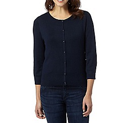 The Collection Petite - Petite navy crew neck cardigan