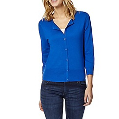 The Collection Petite - Petite bright blue crew neck cardigan