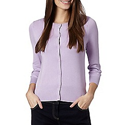 The Collection - Lilac crew neck cardigan