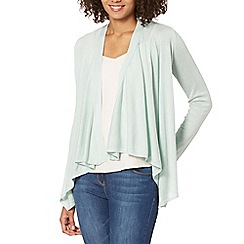 The Collection - Pale green edge to edge cardigan
