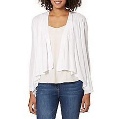 The Collection - White edge to edge cardigan