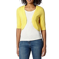 The Collection - Yellow knitted shrug