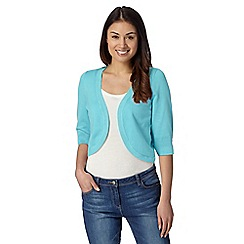 The Collection - Aqua knitted shrug