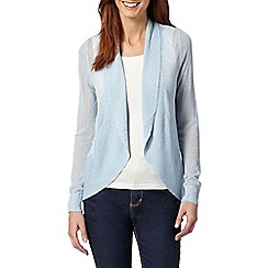 The Collection - Pale blue draped light cardigan