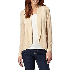 The Collection - Natural draped light cardigan