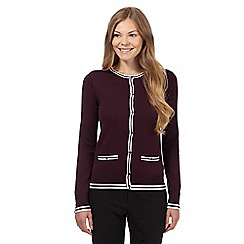 The Collection - Dark purple twin tipped cardigan