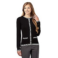 The Collection Petite - Black tipped cardigan