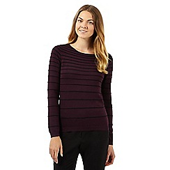 The Collection Petite - Plum graduated striped jumper