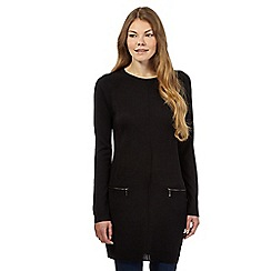 The Collection - Black zip detail tunic